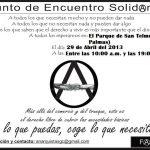 Este 29 de Abril: Punto de Encuentro Solidario