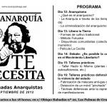 II Jornadas Anarquistas FAGC (Cartel + Programa)