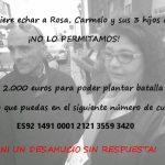 Rosa, Carmelo y sus 3 hijos necesitan 2.000 euros