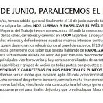 El 18 de Junio, Paralicemos el País