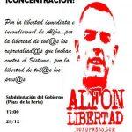 Concentración: ¡Libertad Alfón!