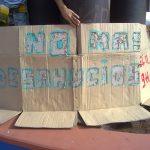 Concentración Anti-desahucios en La Naval