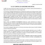 CGT inhabilita al agresor denunciado por el SIGC
