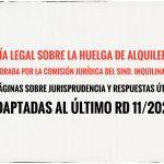 Nuestra guía legal para la huelga de alquileres